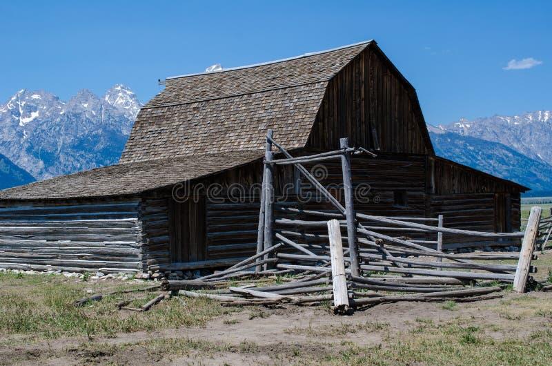 Mormonu rzędu stajnia w Jackson Wyoming Sławny T A Moulton stajnia zdjęcie royalty free