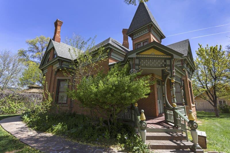 Mormoons het Huismuseum die van de Kolonistenerfenis Buitenkanab Utah de V.S. bouwen royalty-vrije stock afbeelding