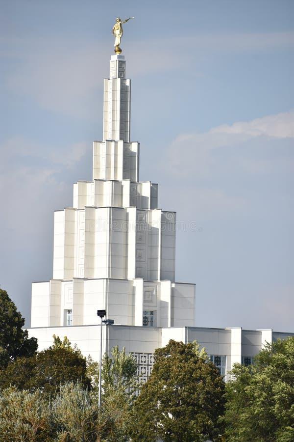 Mormoonse Tempel bij de Dalingen van Idaho van Idaho royalty-vrije stock afbeeldingen