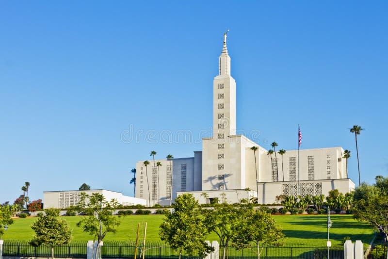 Mormoonse Tempel in Los Angeles stock foto's
