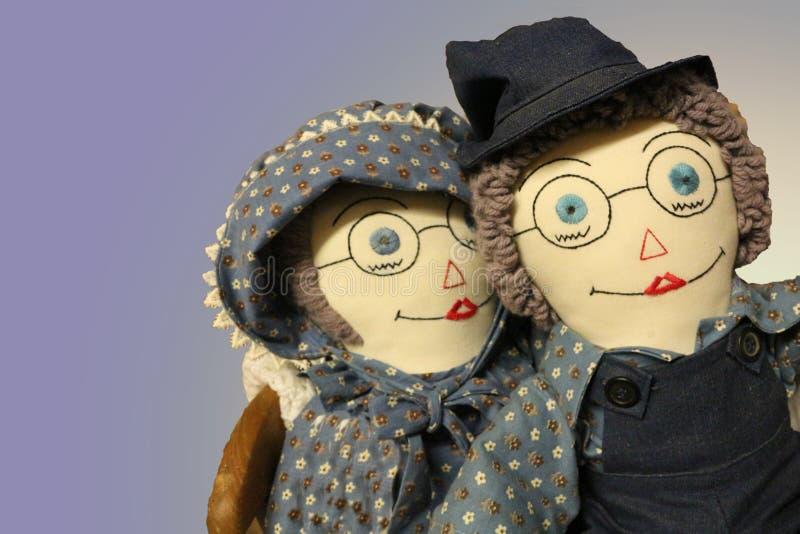 Mormor och morfar Ragdolls royaltyfri foto
