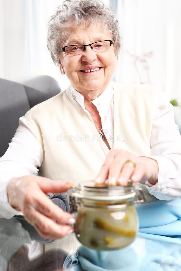 Mormors sylter, läckert ställe krusen för vintern royaltyfria bilder