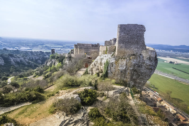Mornas Fortress, France. Mornas is a commune in the Vaucluse department in the Provence-Alpes-Côte d`Azur region in southeastern France royalty free stock photos