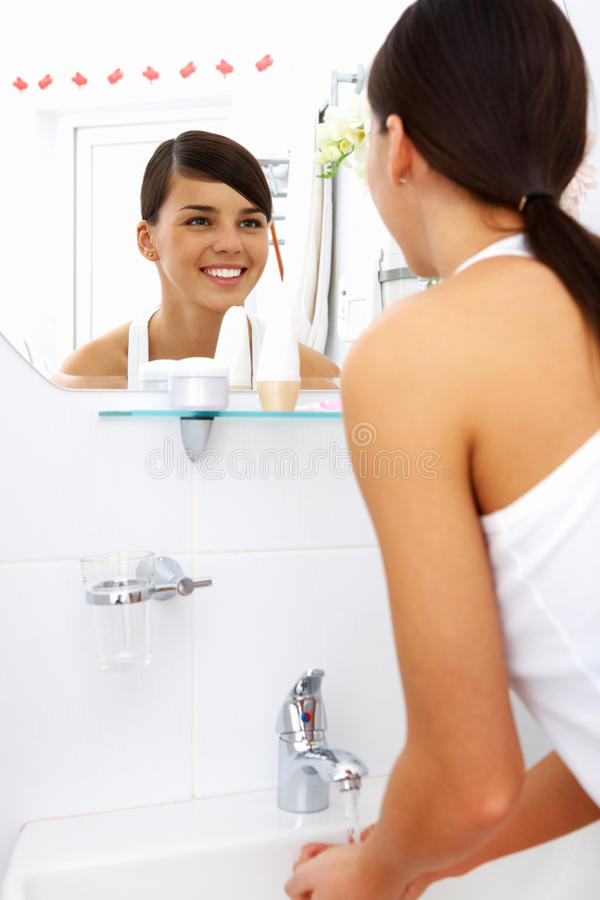 Download In the morning stock photo. Image of cosmetician, home - 24738876
