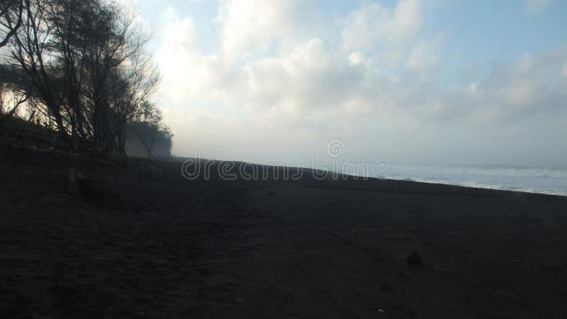 Beach baru, Central Java Indonesia. Morning atmosphere on the beach baru, Central Java Indonesia stock photography