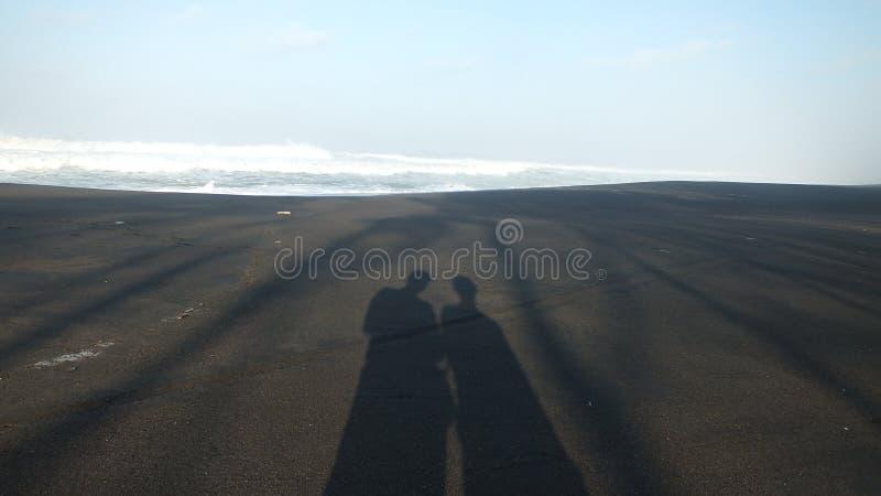 Beach baru, Central Java Indonesia. Morning atmosphere on the beach baru, Central Java Indonesia stock image