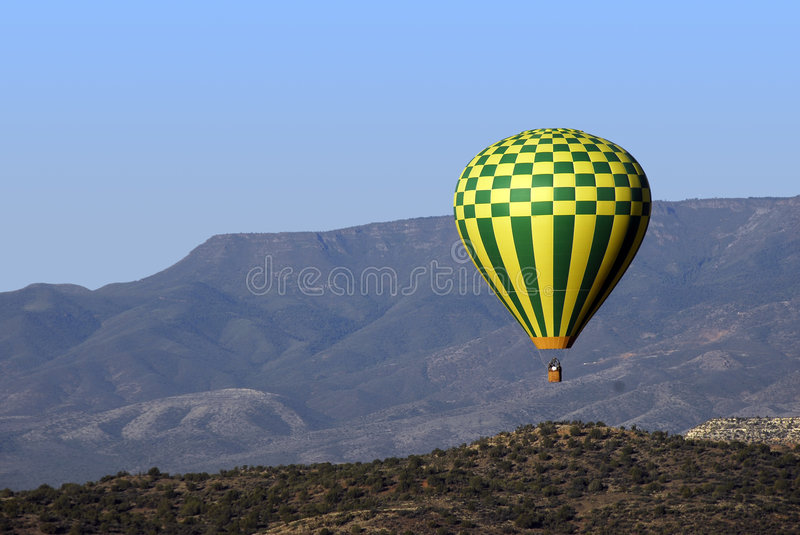 Morning Balloon Ride Stock Photo