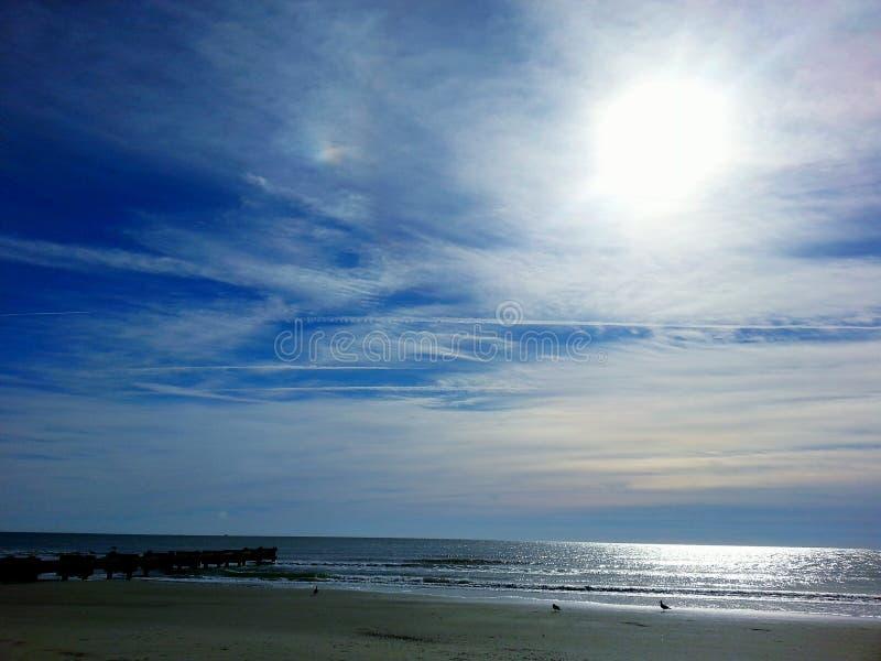 Morning beach stock image