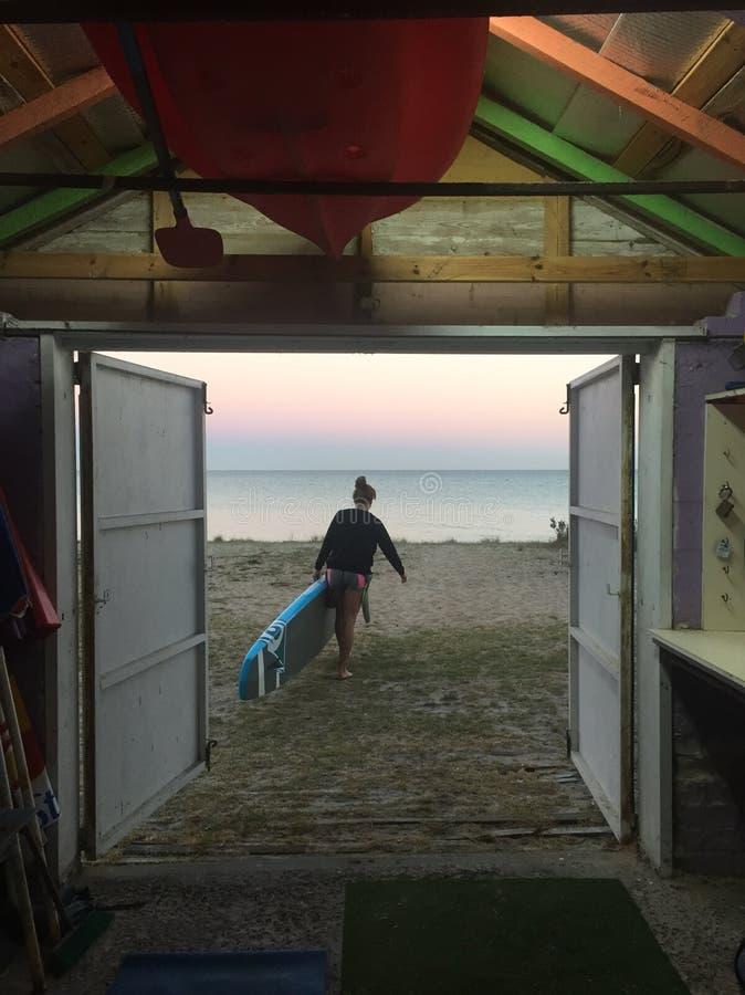 SUP Sunrise paddle from Boatshed stock photos