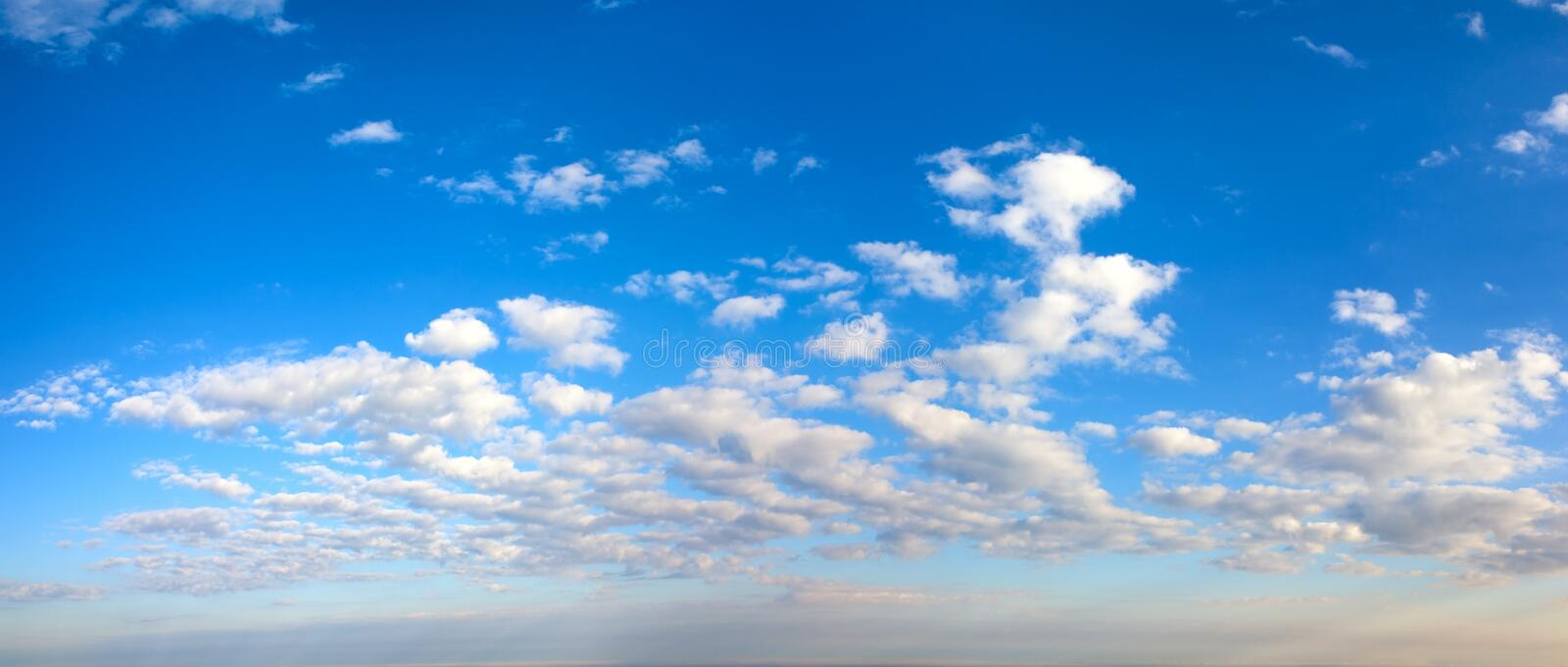 Morning blue sky panorama. royalty free stock images