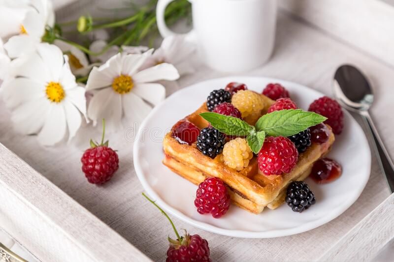 Image with breakfast. royalty free stock photos