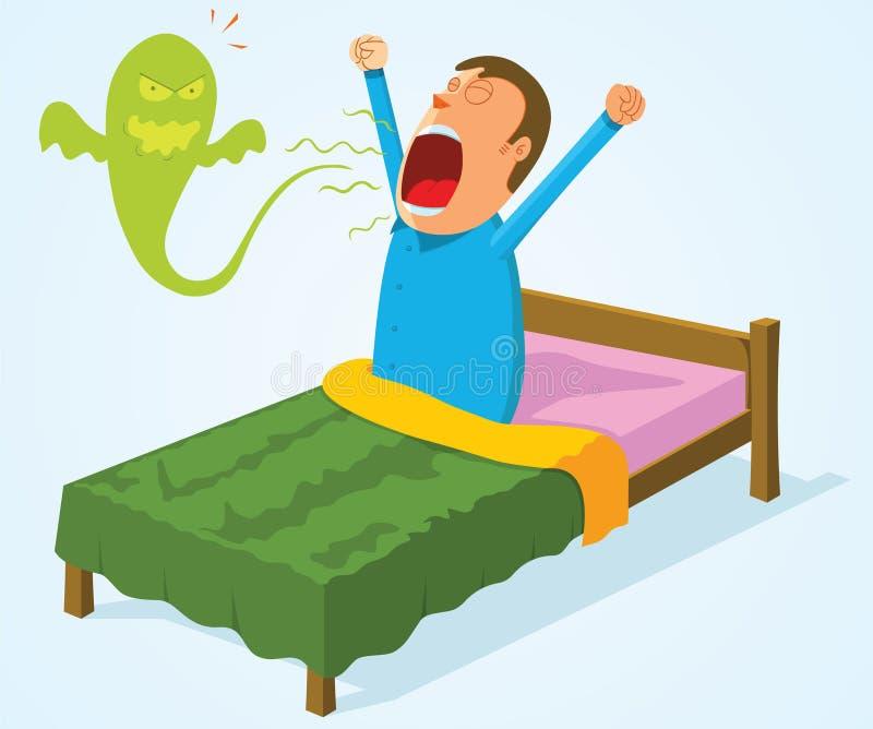 Download Morning breath stock vector. Illustration of lazy, sleepy - 32250464