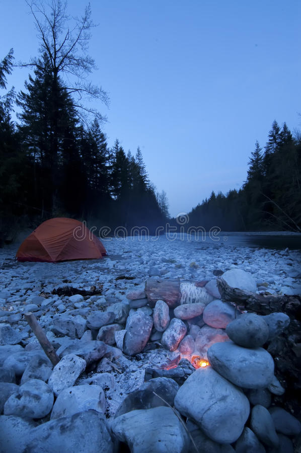 Download Morning at Camp stock photo. Image of firepit, shelter - 10594464