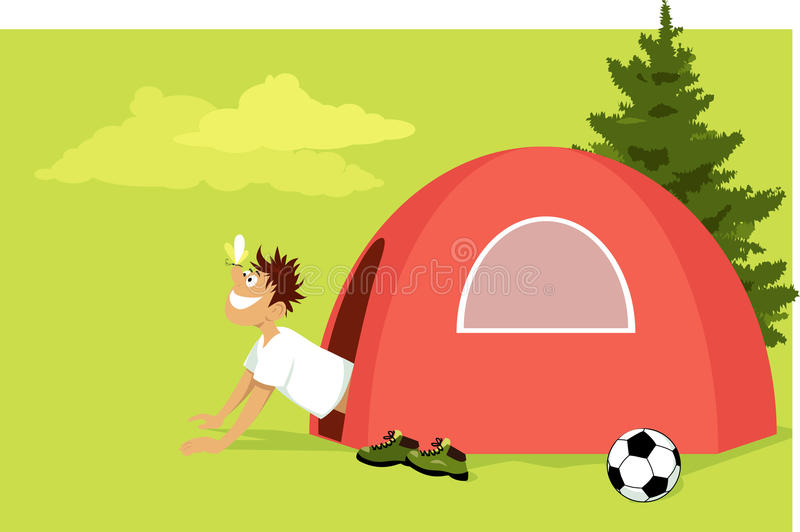 Morning in the camp stock illustration