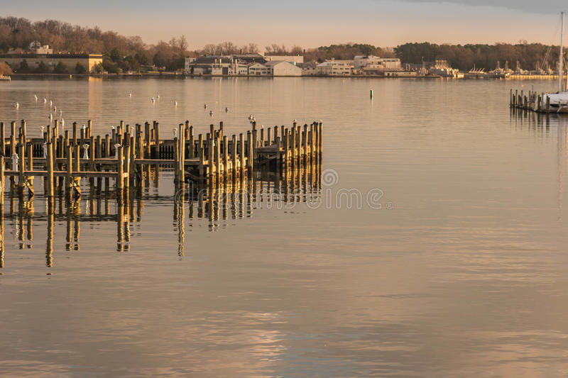Morning on the Chesapeake Bay stock photography