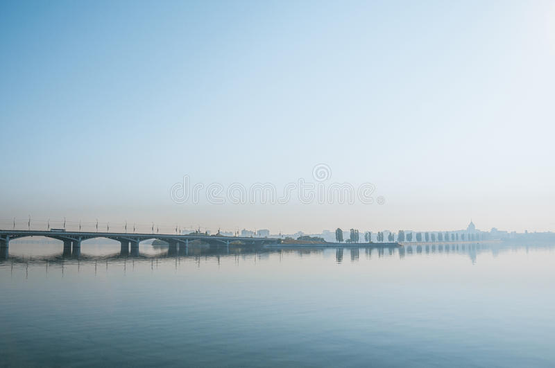 Morning in the city royalty free stock images
