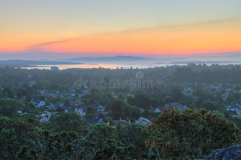 Morning city victoria stock photography