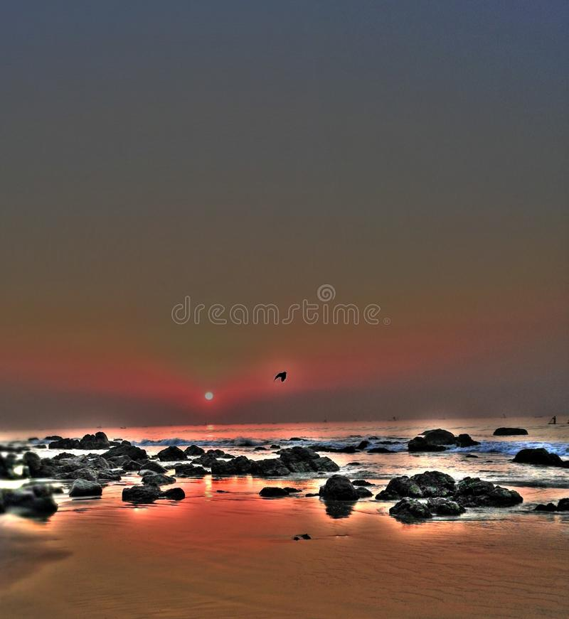 Vizag beach royalty free stock photography