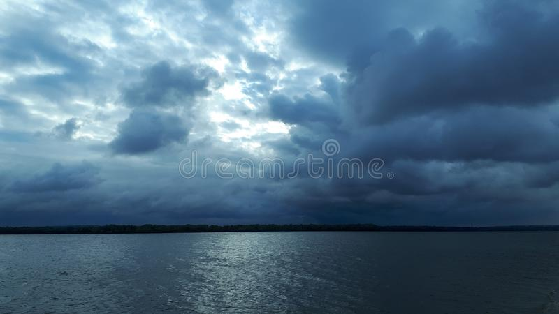 Morning cloudy sky stock photography