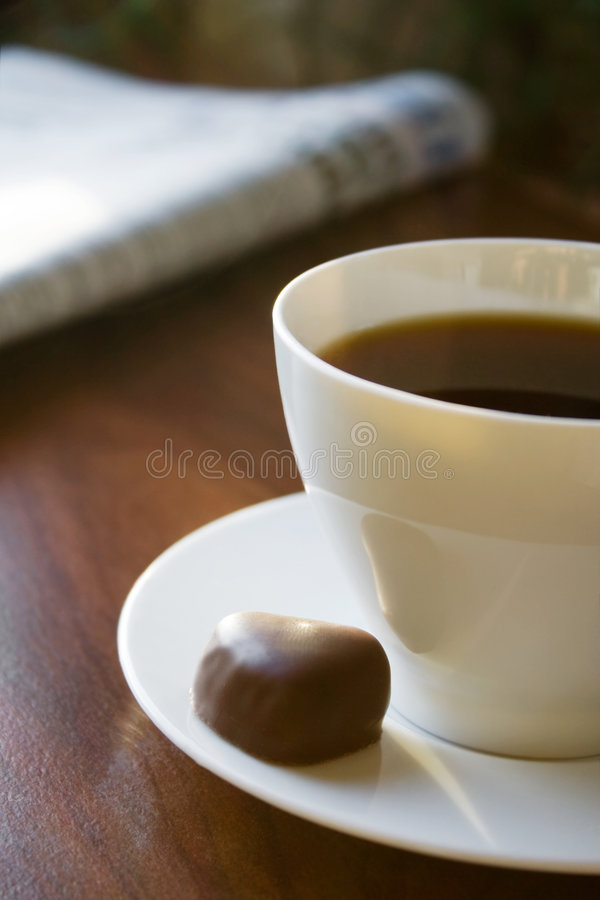 Download Morning coffee stock photo. Image of newspaper, heart - 1713550