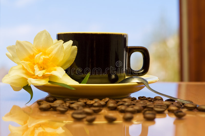 Download Morning coffee stock image. Image of drink, spoon, close - 5020849