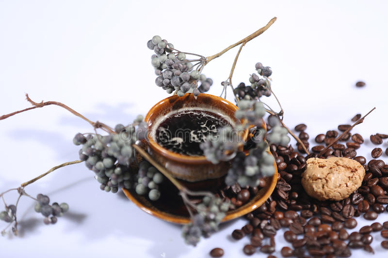 Morning coffee background stock image