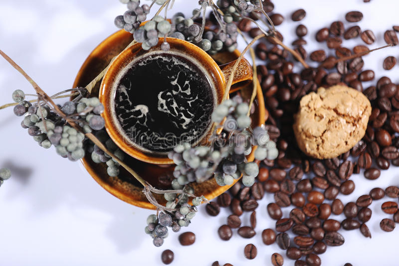 Morning coffee background royalty free stock photos
