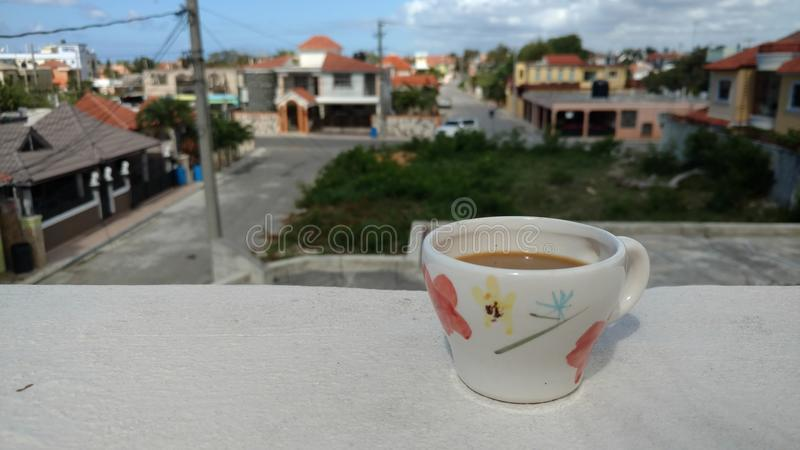 Morning Coffee, Island Style stock images