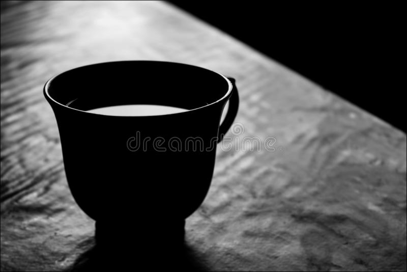 Morning coffee in silence stock photography