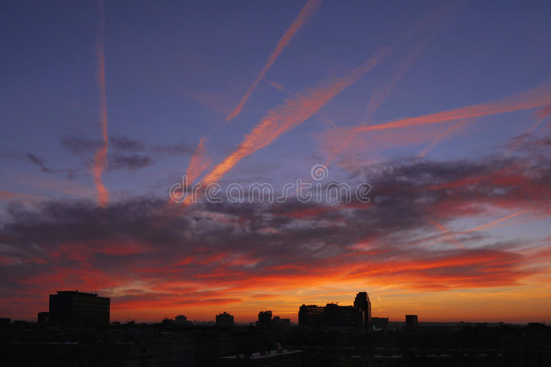 Morning colored sky royalty free stock photo