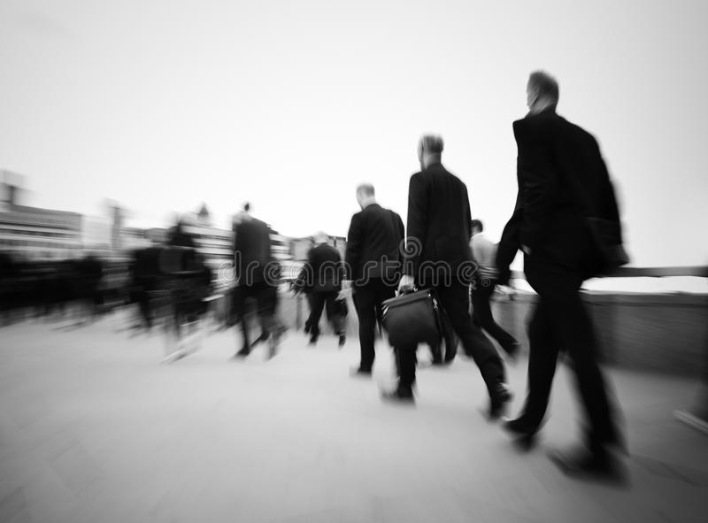 Morning Commuters London Rush Hour Concept royalty free stock image