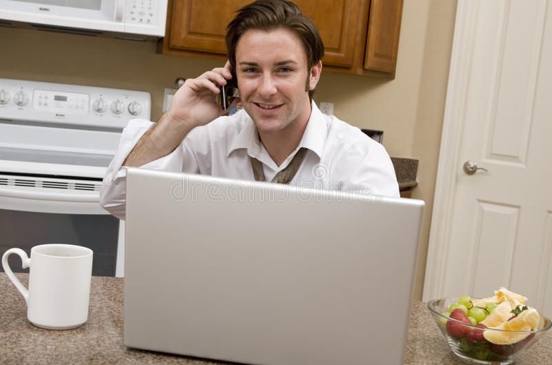 Download Morning Conference Call stock image. Image of eating - 10175303