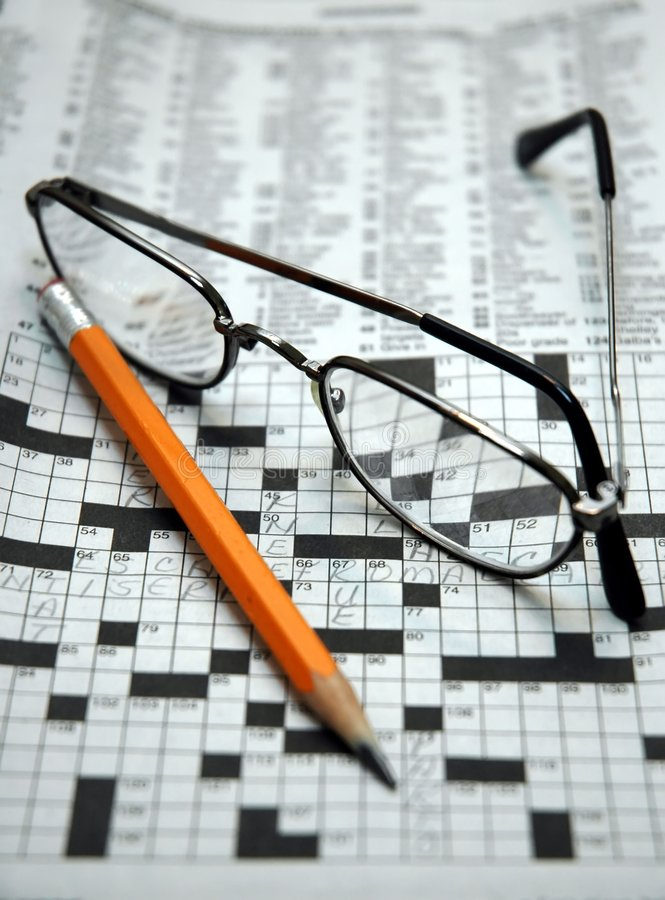 Morning Crossword Puzzle royalty free stock photos
