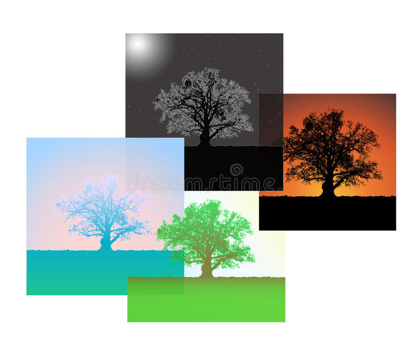 Download Morning, Day, Evening, Night. Stock Vector - Image: 27035144