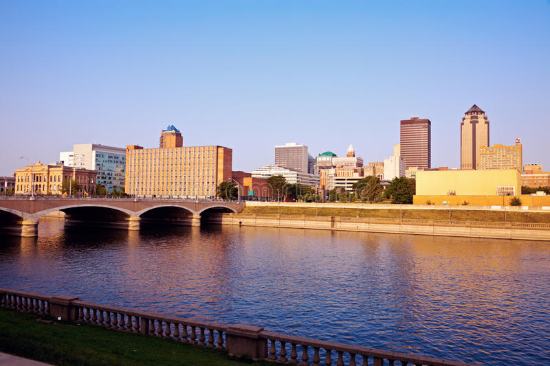 Morning in Des Moines stock image