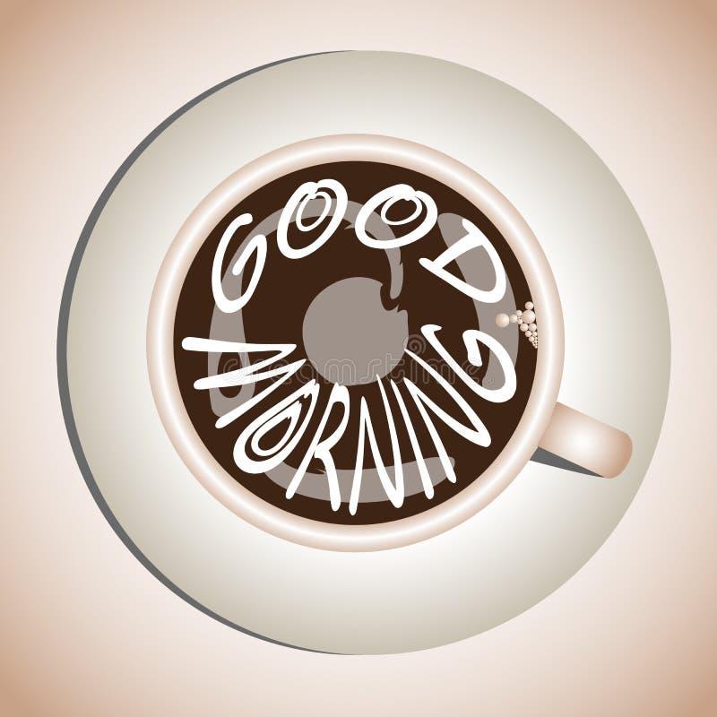 Morning drink royalty free illustration