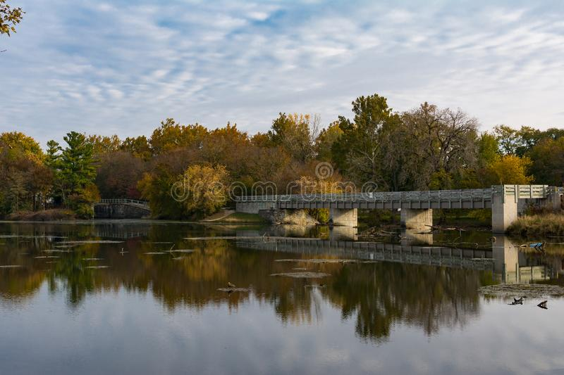 Morning on the Dupage River royalty free stock photo