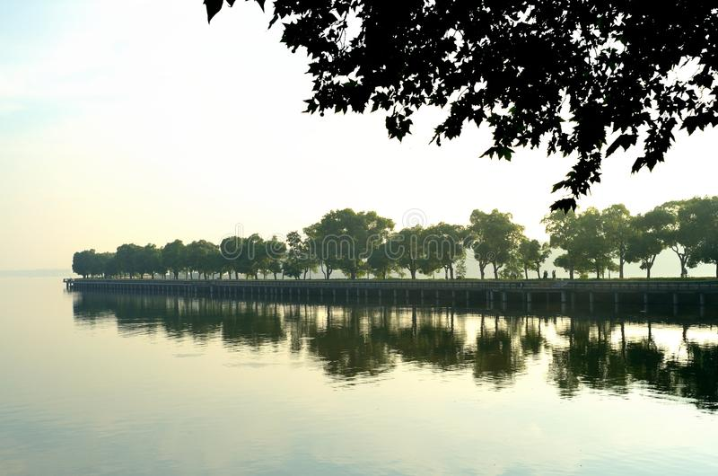 The morning of East Lake - royalty free stock image