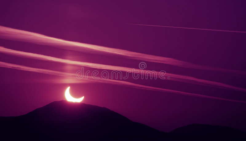 Morning Eclipse royalty free stock photography
