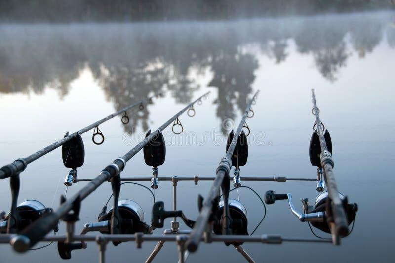 On morning fishing stock photos
