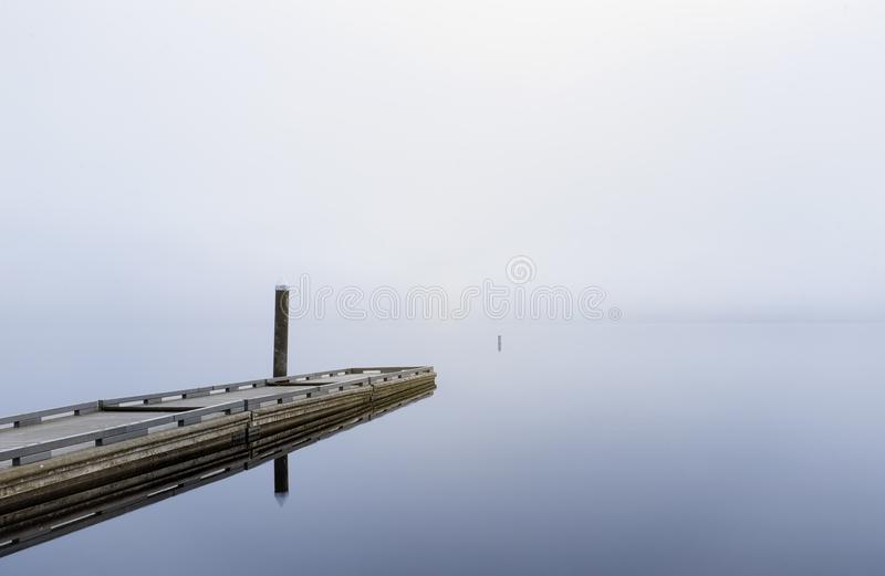 Morning fog beyond the veil royalty free stock photo