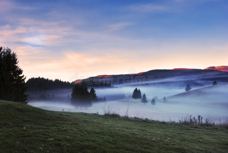Morning Fog And Mist Stock Image