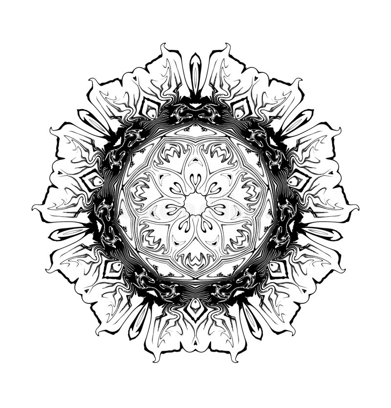 Download Morning Glory Glyph stock illustration. Image of symbol - 4135341