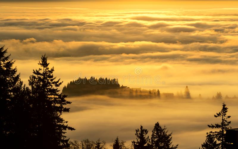Morning glow sky royalty free stock images