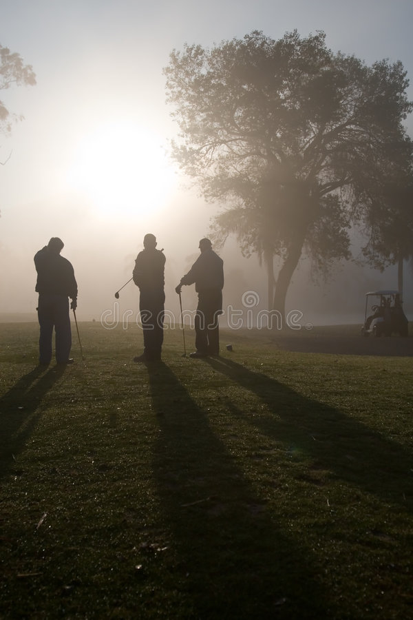 Morning Golfers royalty free stock photos