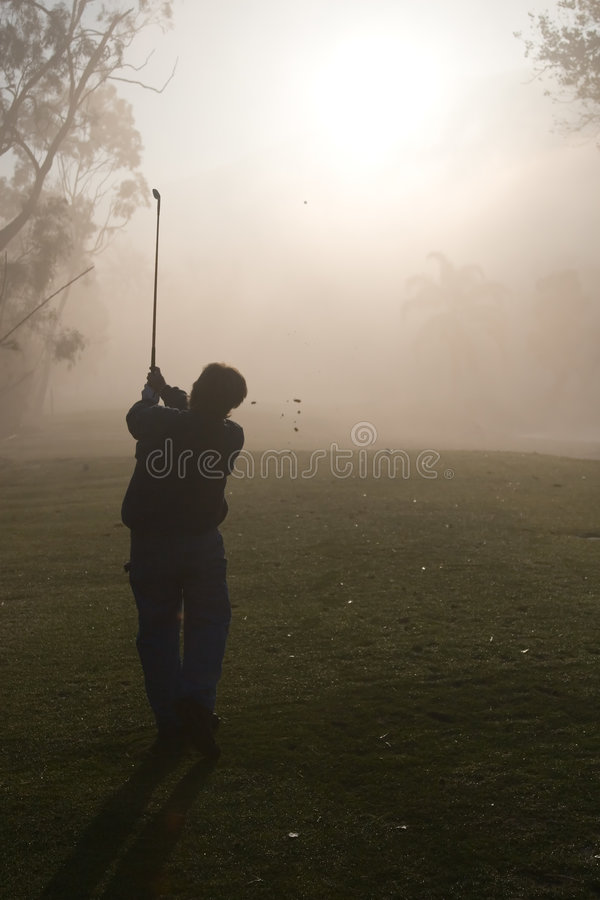 Morning Golfers royalty free stock photo