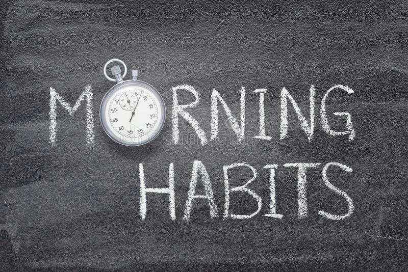 Morning habits watch royalty free stock images