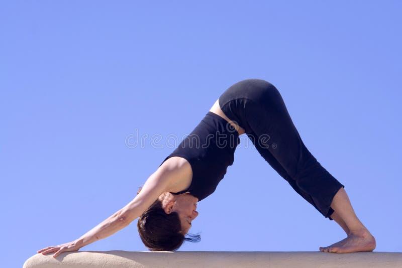 Morning Hatha-Yoga Excercise stock images