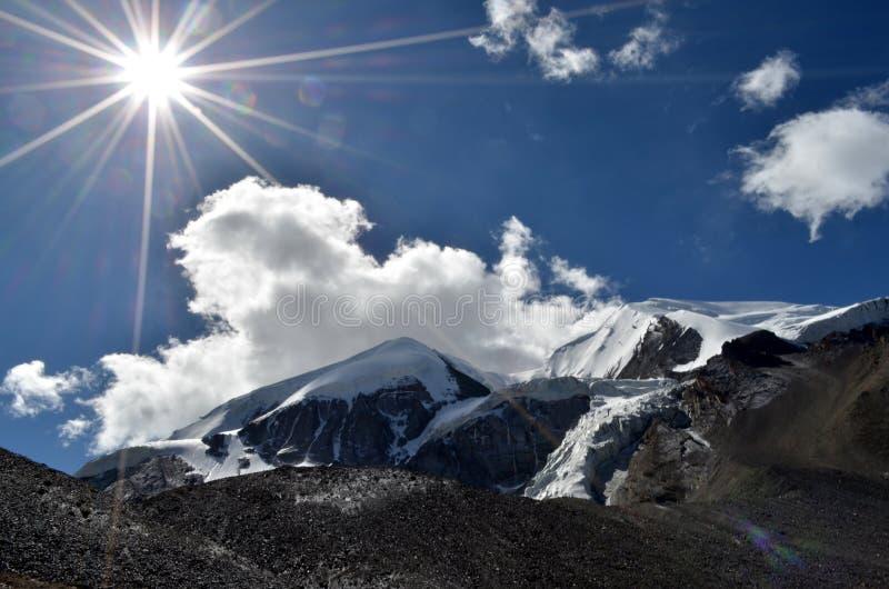 Morning in Himalaya stock image