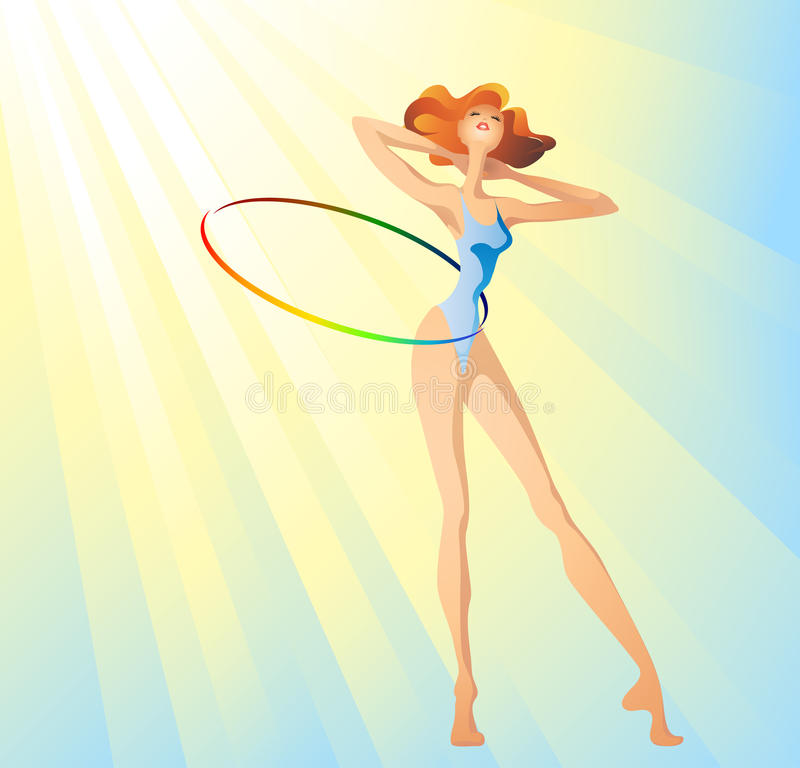 Download Morning hula-hoop stock vector. Illustration of morning - 9930561